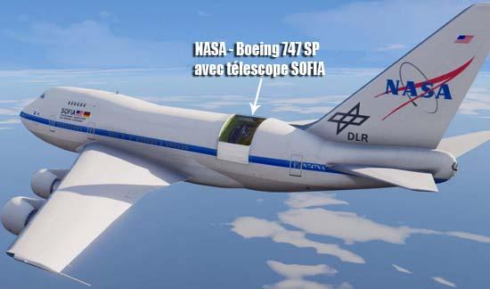 Boeing 747 de la NASA avec telescope SOFIA