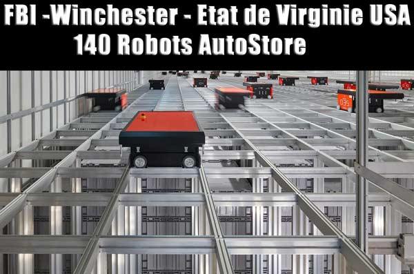 Robots AutoStore : archives du FBI à Winchester